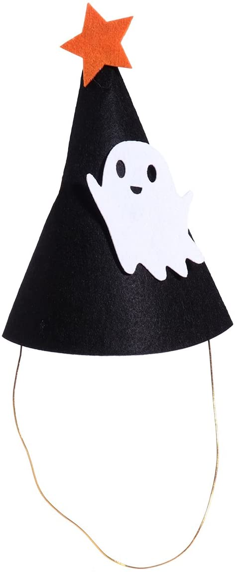 OULII Kids Halloween Hats Ghost Cap with Band for Halloween Party Favors Decoration