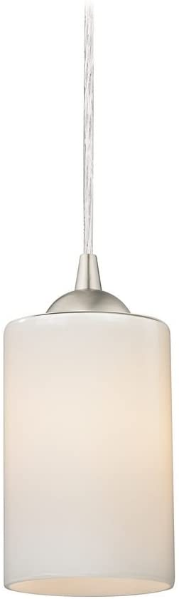 Design Classics Contemporary Mini-Pendant Light with Opal White Cylinder Glass