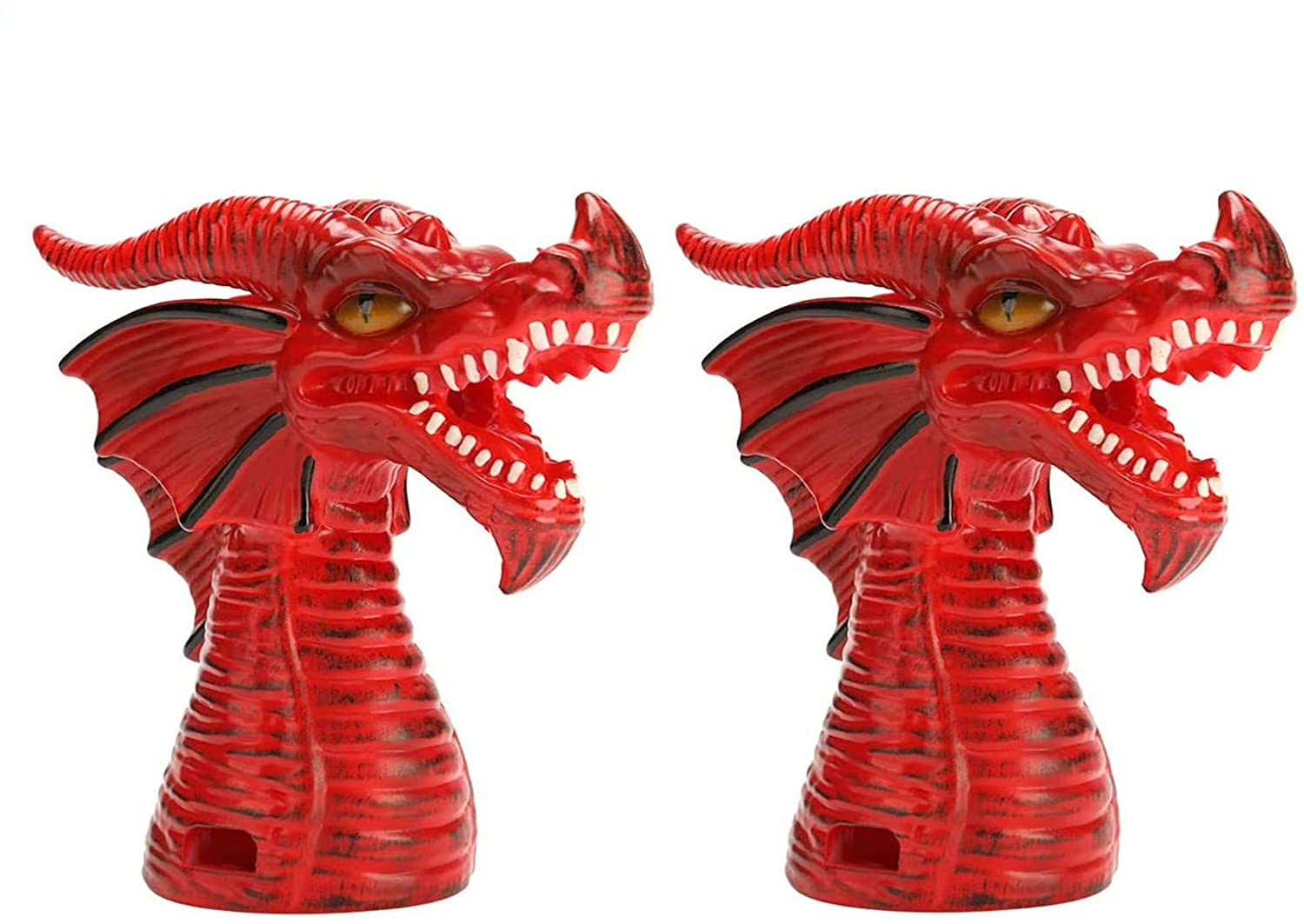 Tantrum Tow Ropes Fire-Breathing Dragon Original Steam Release Accessory, Steam Release Diverter for Instant Pot Pressure Cooker Ninja Foodi Kitchen Supplies, Cupboards/Cabinets Savior (2PC/Red)