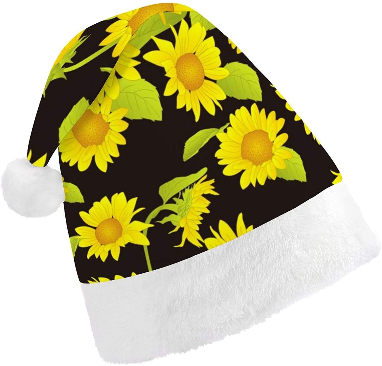 Santa Hat Plush Christmas Hat, Christmas Holiday Party Xmas Cap, Funny Xmas Hat for Men Women, Christmas Tree Decor
