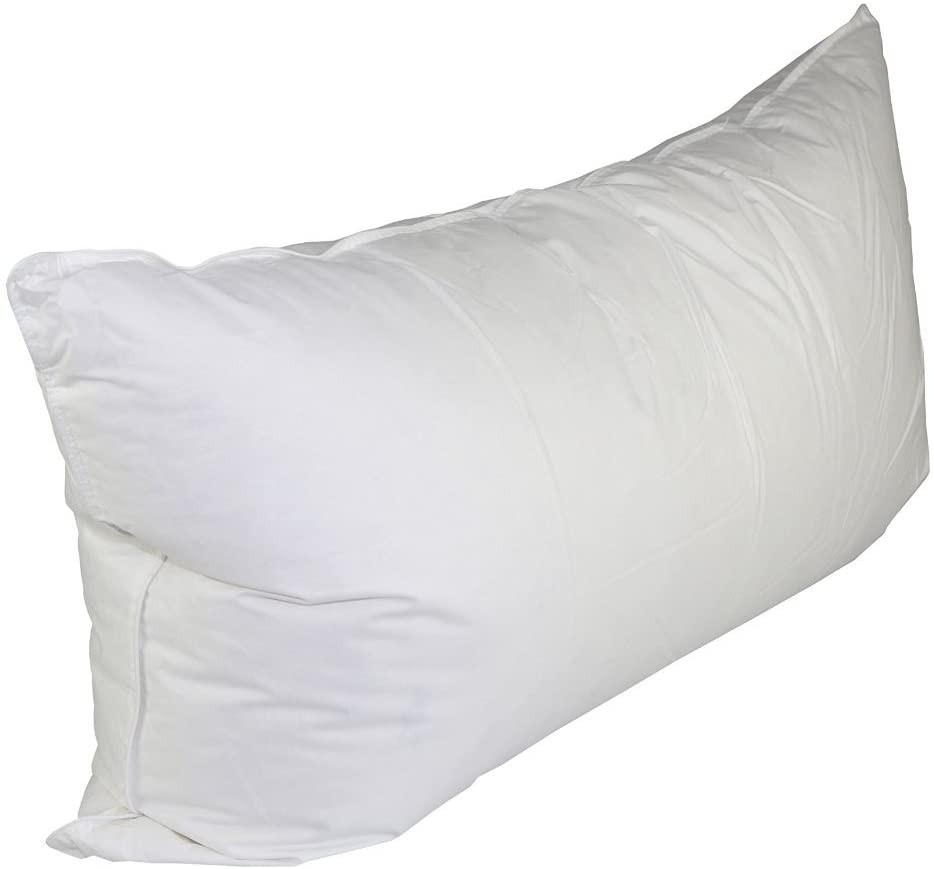 White Duck Down & Feather Pillow- Pillows with Soft-Medium Support 2-Pack