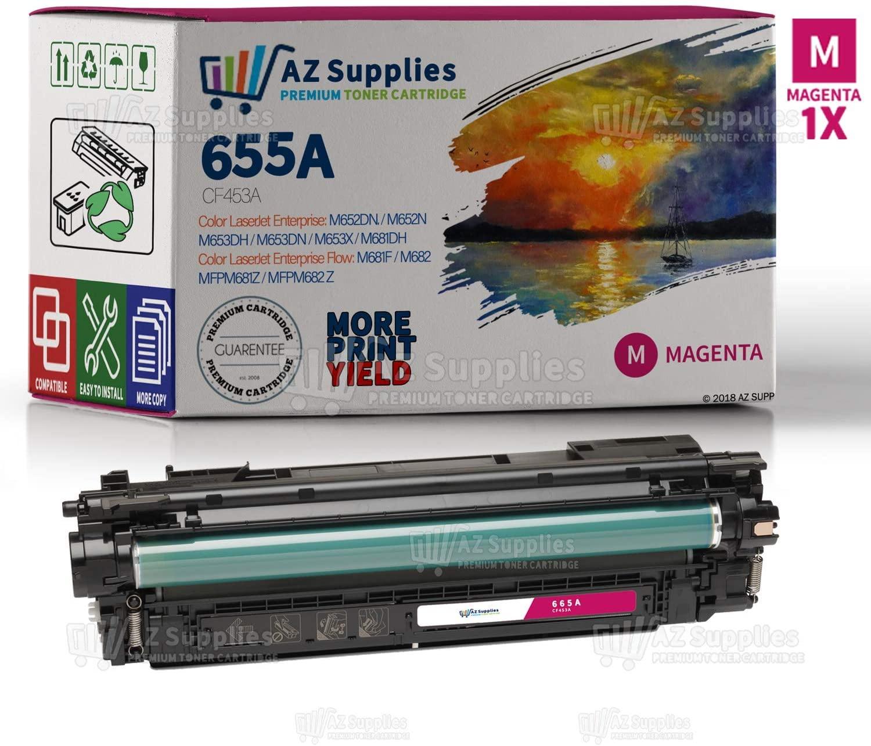 AZ Supplies Compatible Toner Cartridge Replacement for HP 655A (CF453A) Premium Cartridge (Magenta)