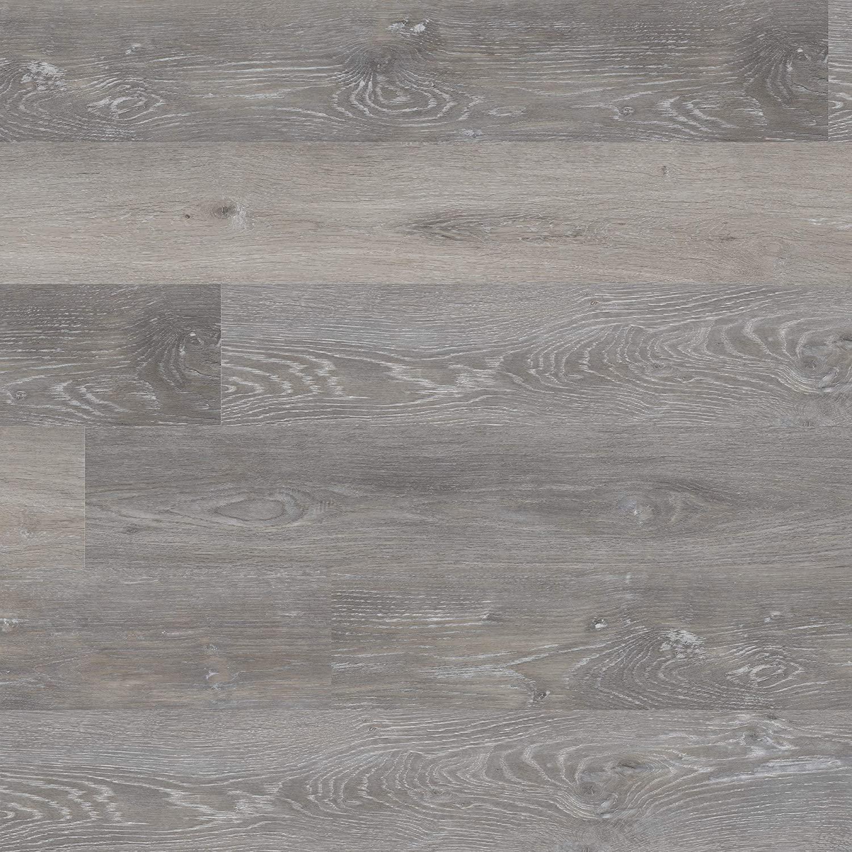 M S International AMZ-LVT-0005 7 inch x 48 inch Luxury Vinyl Planks LVT Tile Click Floating Floor Waterproof Rigid Core Wood Grain Finish McKenna, CASE, Rushmore Gray, 23 Square Feet
