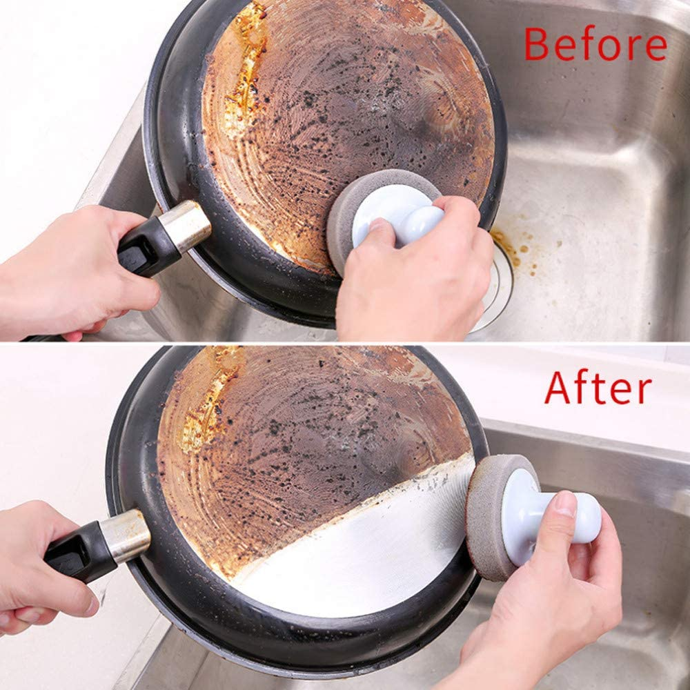Lemoning Kitchen Accessories, Kitchen Nano Emery Magic Clean Rub Pot Rust Focal Stains Sponge Brush