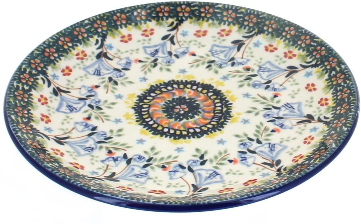 Blue Rose Polish Pottery Periwinkle Dessert Plate
