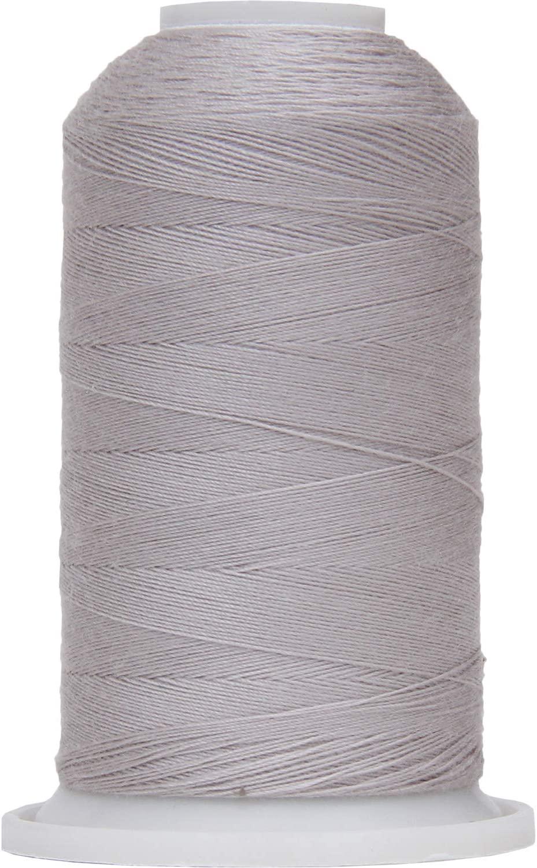 Threadart Polyester All-Purpose Sewing Thread - 600m - 50S/3 - Silver Grey
