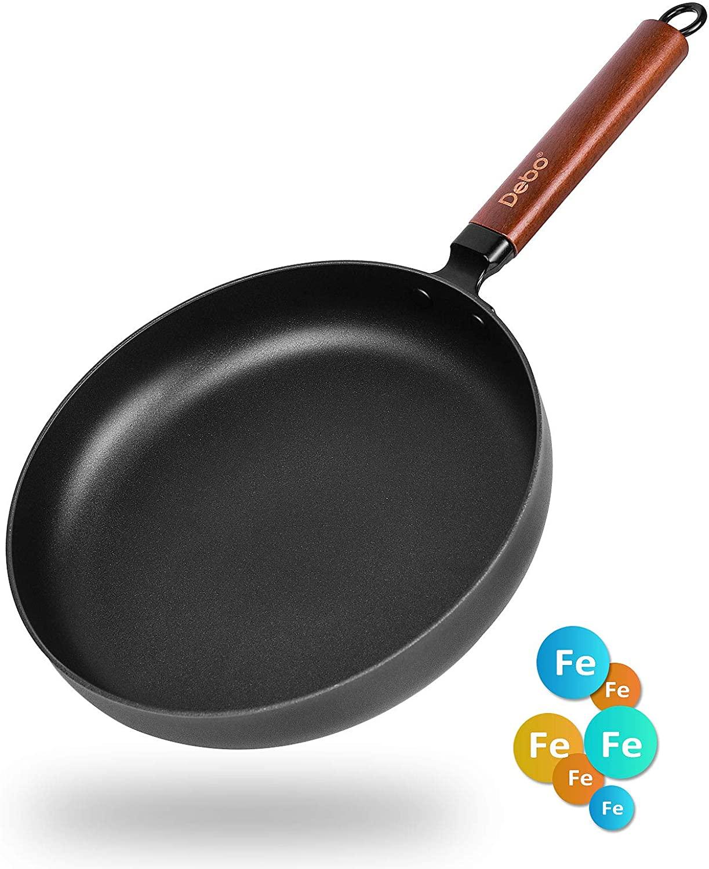 Nonstick Cast Iron Pots And Pans Set Kitchen Pans And Pots Durable Versatility Dishwasher Safe black 10inch