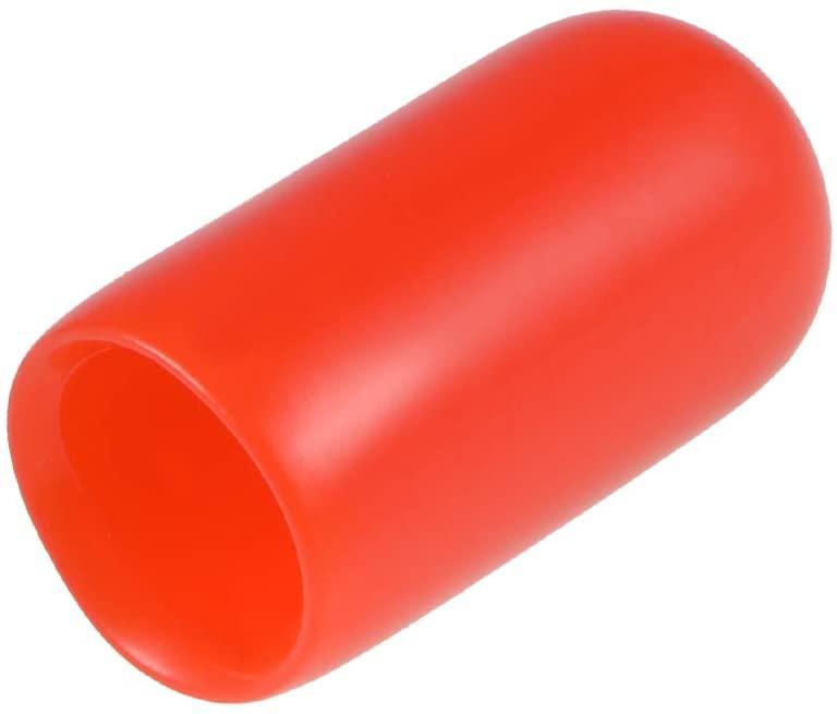uxcell 200pcs Rubber End Caps 1/4