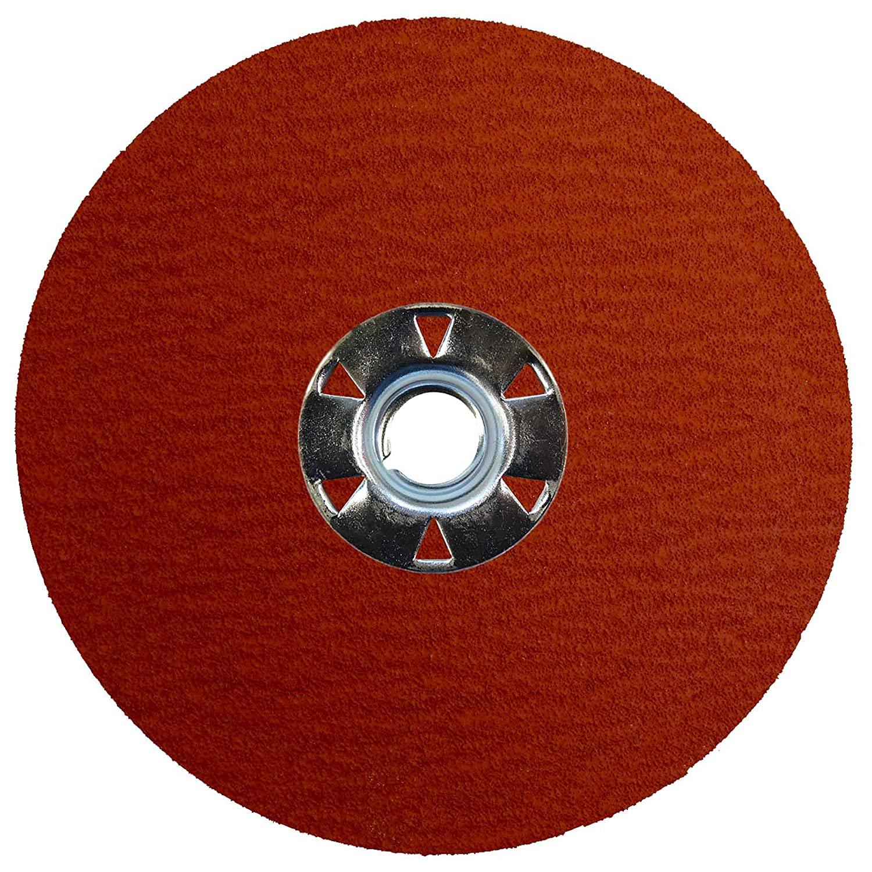 Weiler 69890 Tiger Ceramic Alumina Resin Fiber Sanding & Grinding Disc, 5