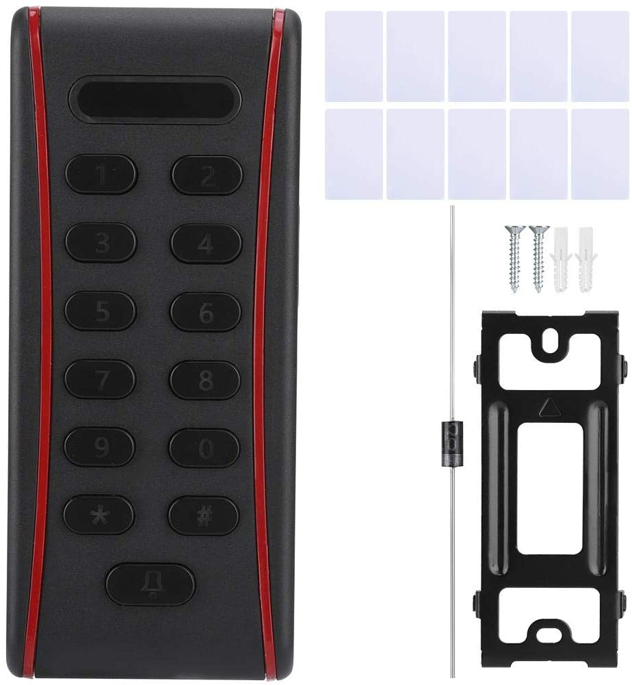 Access Control System Keypad Access Control with Digital Keypad, Password Access Control, RFID Card Access Control Support 1000 Users,with 10 Proximity Cards(ID)