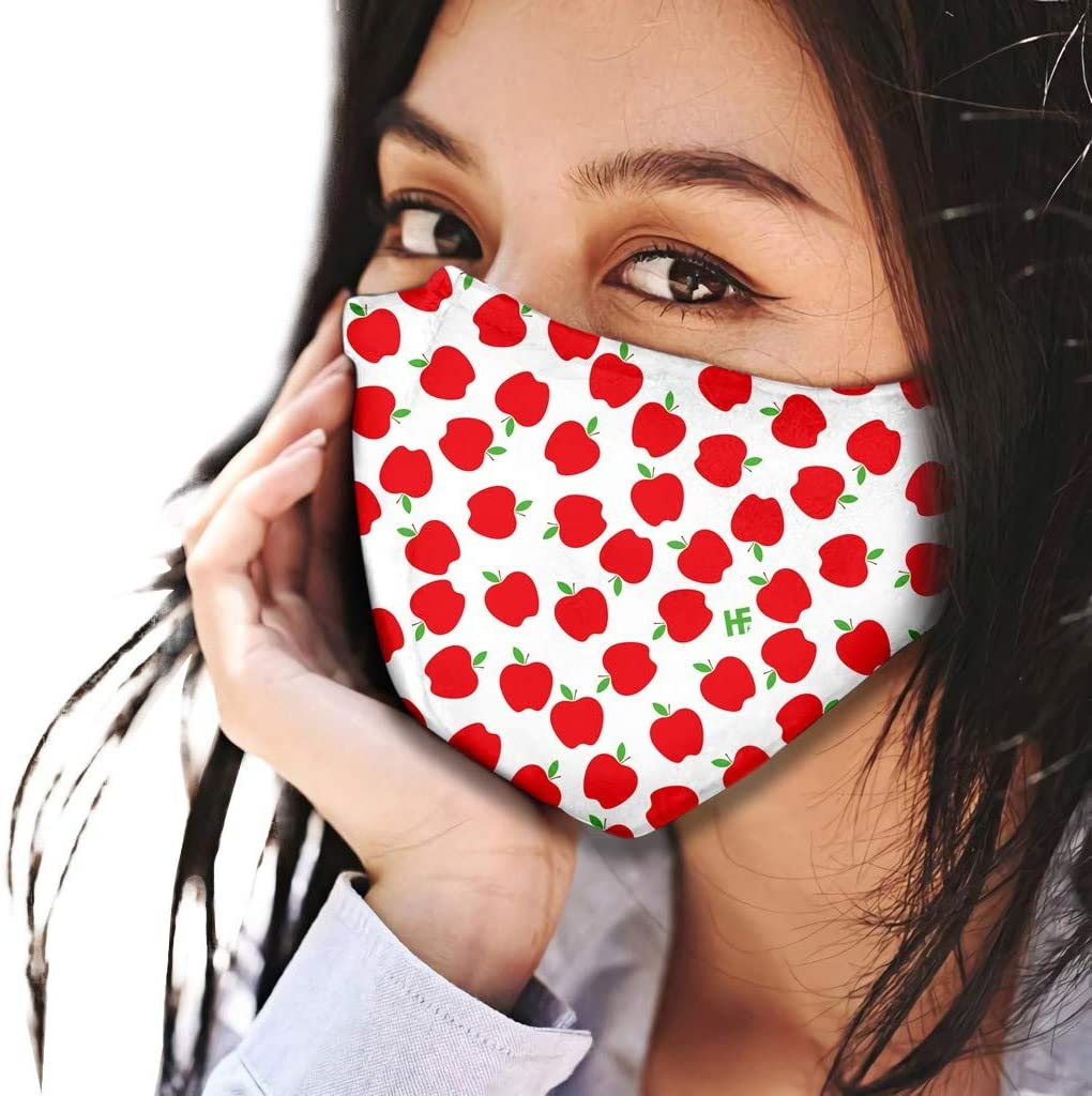 EvaFAST 2020 New Design Face_Mask with Adjustable Ear Strap for Adults, Fashion Print Breathable Outdoor Safety Dust_Masks, Reusable and Washable (C)