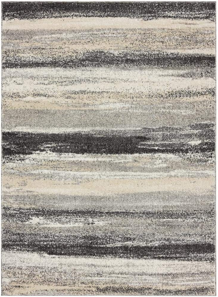 Luxe Weavers Tower Hill Abstract Gray 8x10 Area Rug