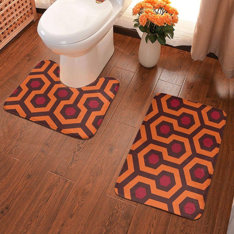 NiYoung Bathroom Rug Contour Carpet 2-Piece mats Set for Shower Bathroom and Toilet Non-Slip & Super Soft (Overlook Hotel)