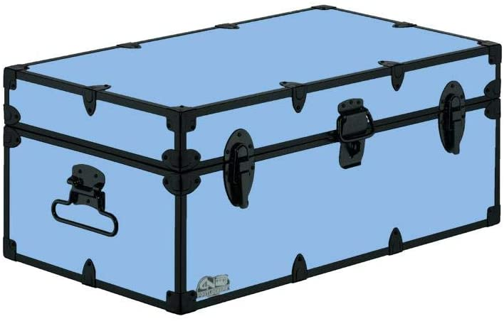 C&N Footlockers Camp Trunk Footlocker - Happy Camper with Black Trim 32 x 18 x 13.5 Inches