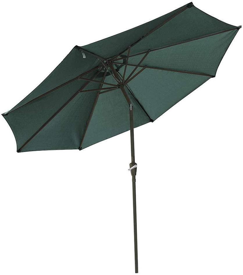Yescom 9ft UV50+ Fade Resistant New OLEFIN Outdoor Patio Umbrella 8 Rib Crank Tilt Beach Market Table Water Repellent