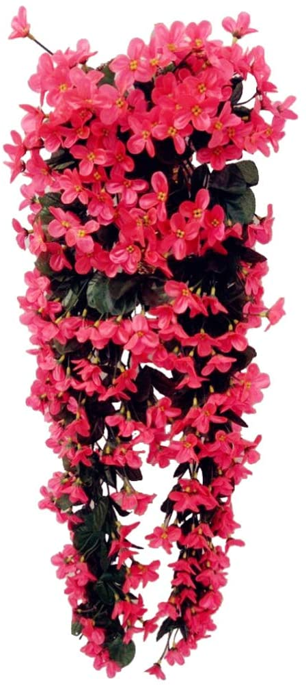GARNECK Artificial Flower Vines Garland Hanging Wisteria Decoration Wedding Garden Wall Home Office Arch Arrangement Decoration Christmas Party Decor Favor Rose Red