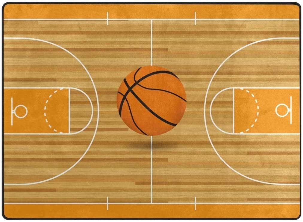 Video Games Area Rug Floor Mat Basketball Court Large Area Rug Machine Washable Carpet Decor Living Room Dining Room Kids Room Play Room Carpet