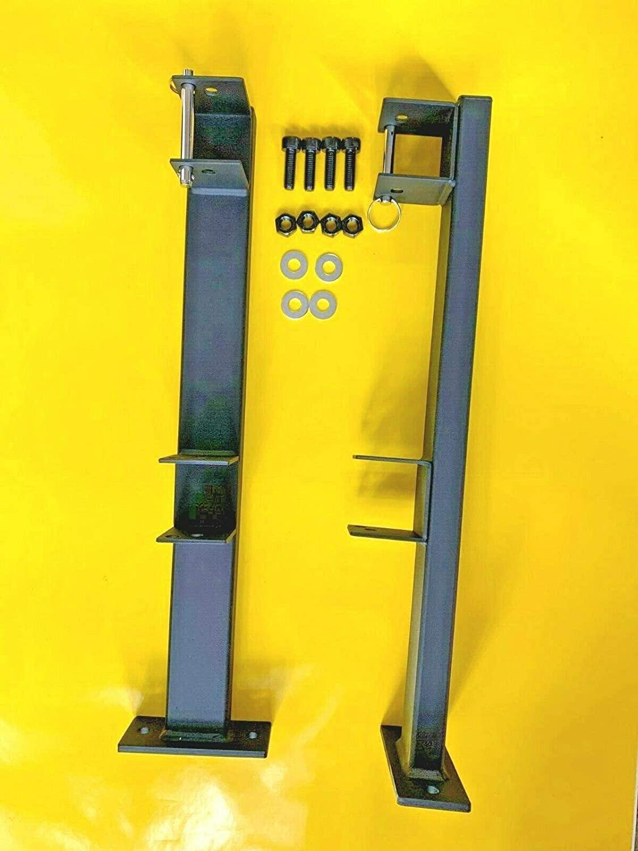 Lockable Weed-Eater Trimmer Double Rack Holder Carrier Mount