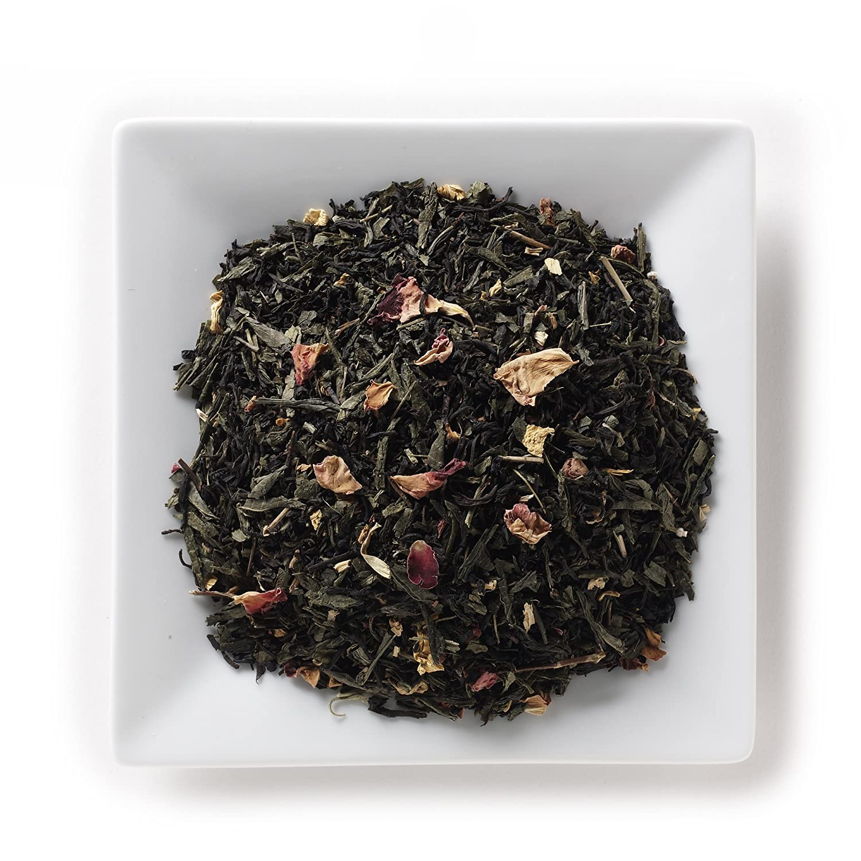 Mahamosa Emperor's 7 Treasures Peach Tea 2 oz - Flavored Black Tea and Green Tea Blend Loose Leaf (Looseleaf)