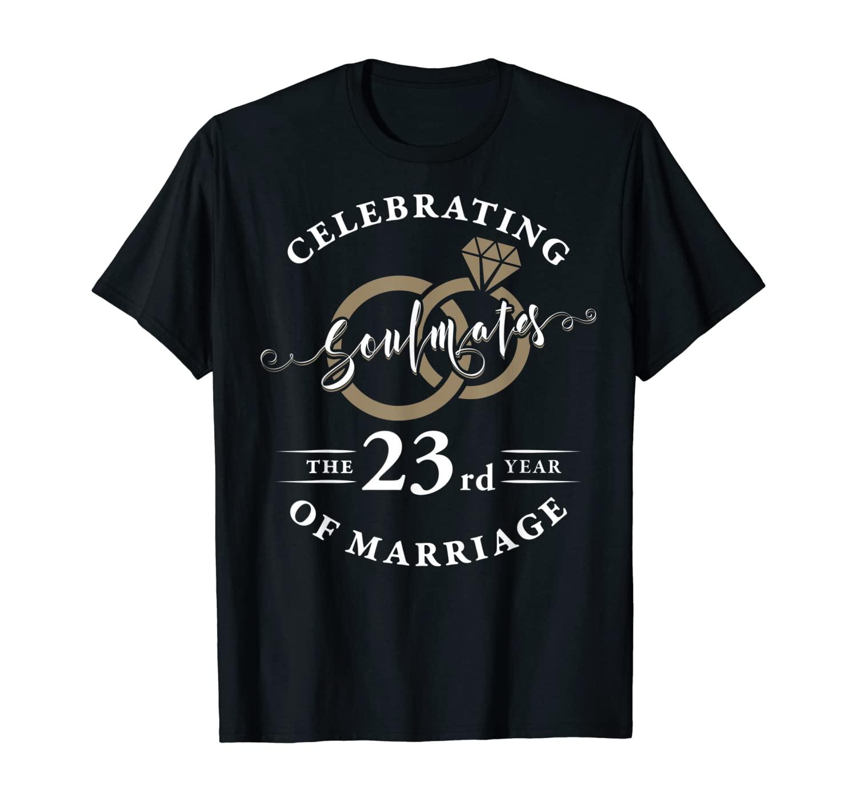 23rd Wedding Anniversary Shirt 23 years of Marriage Gift T-Shirt