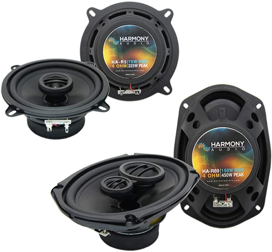 Harmony Audio R5 R69 OEM Factory Speaker Replacement Package Compatible with Mitsubishi Diamante Wagon 1993 1994 1995