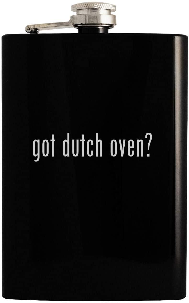 got dutch oven? - Black 8oz Hip Drinking Alcohol Flask