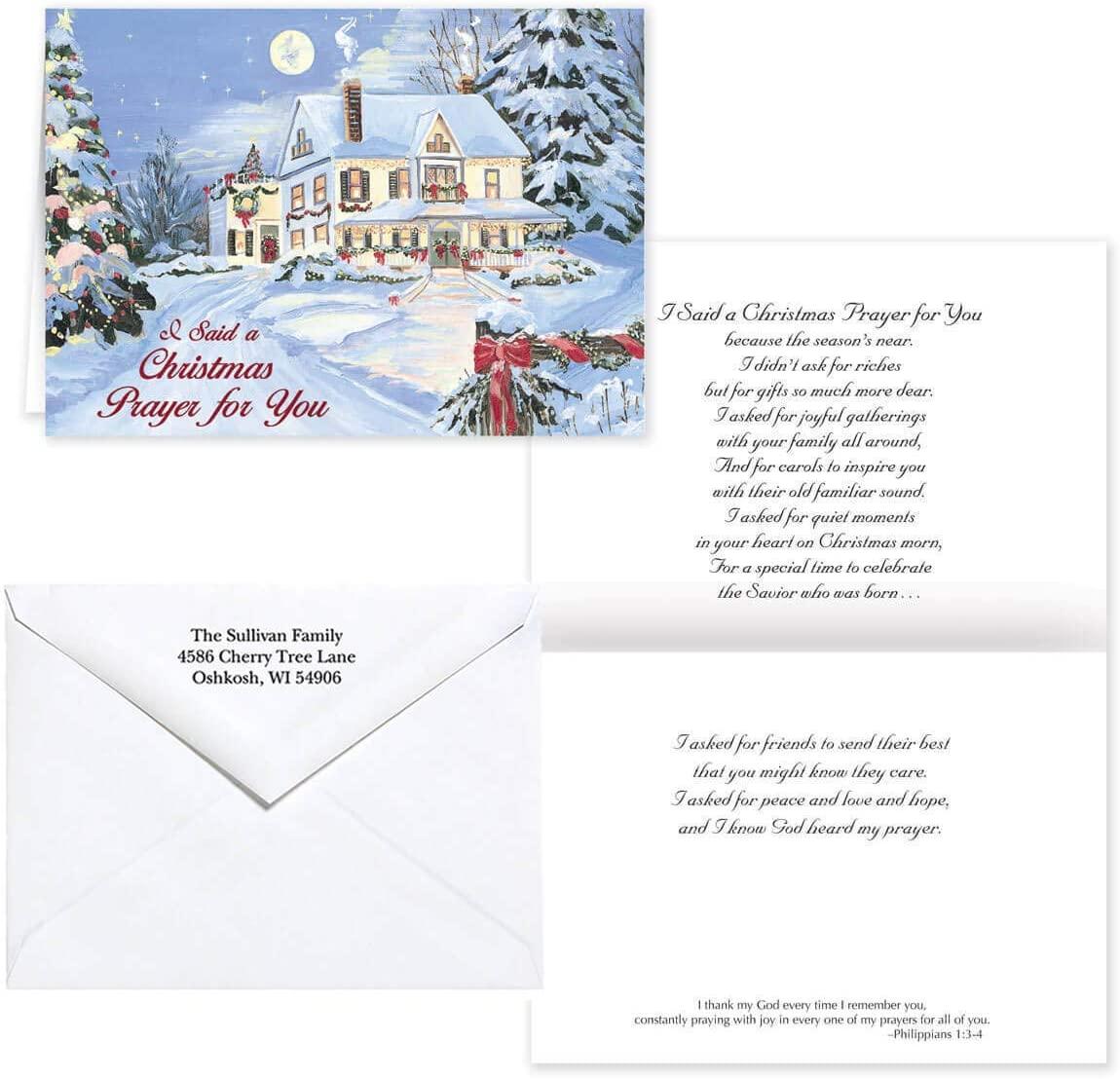 Pers I Said A Christmas Prayer Christmas Card Set of 20