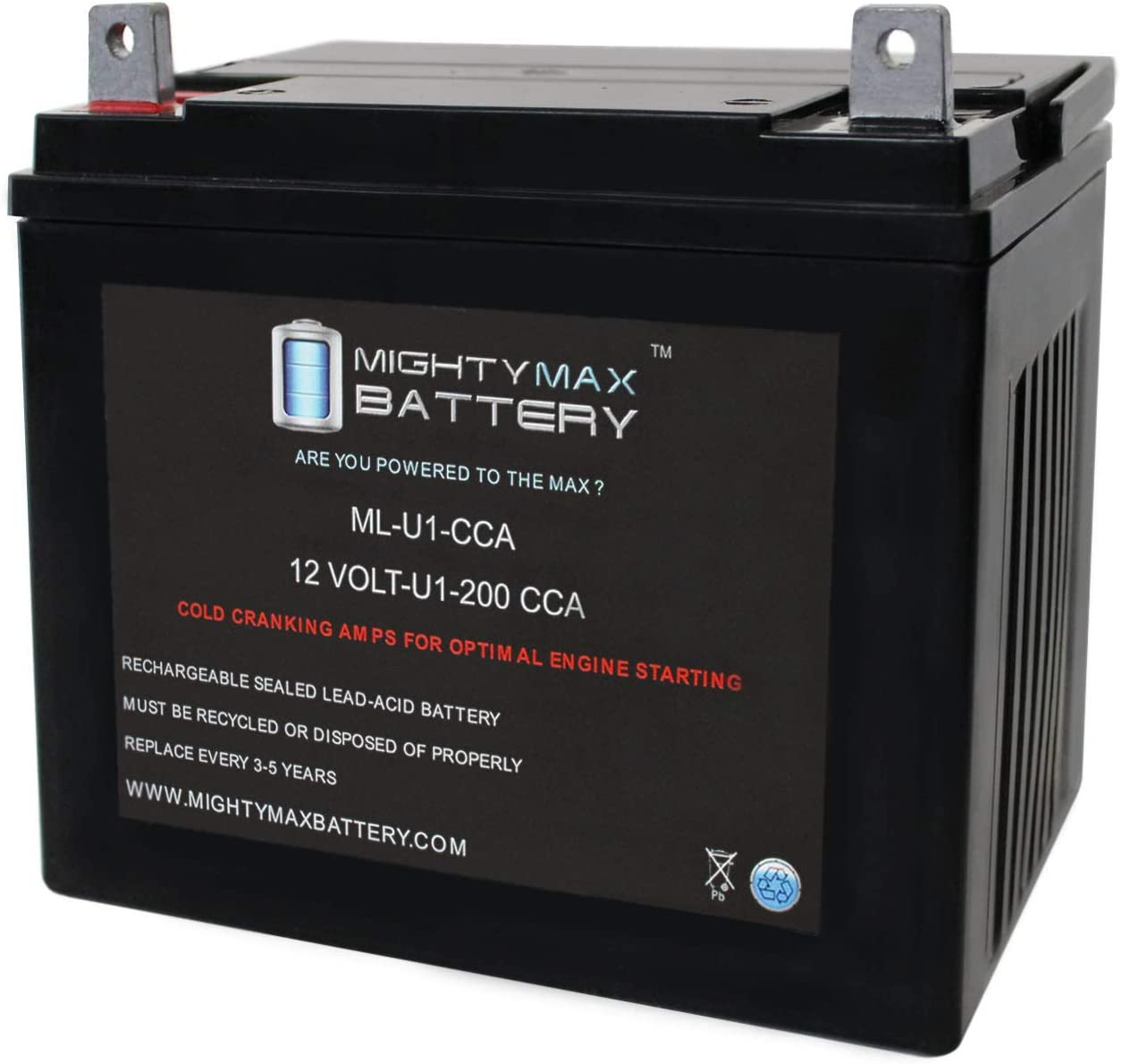 Mighty Max Battery ML-U1 12V 200CCA Battery for Jacobsen Chief Lawn Tractor and Mower Brand Product