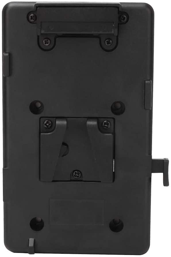 Battery Mounting Plate for Camera, Battery Back Pack Plate V-Mount V-Lock Adapter for DSLR Camera Video Light