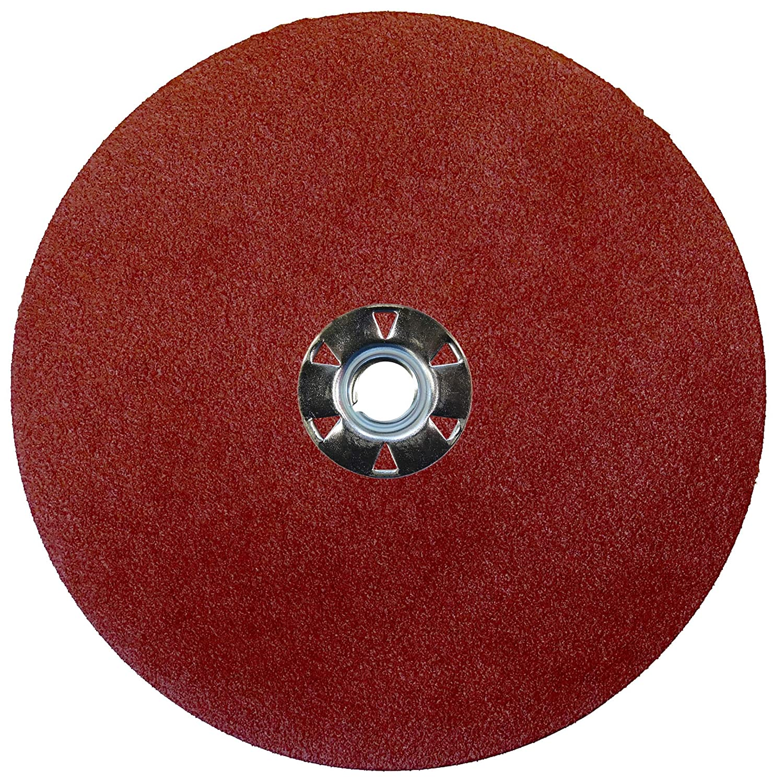 Weiler 61528 Wolverine Aluminum Oxide Resin Fiber Sanding & Grinding Disc, 7