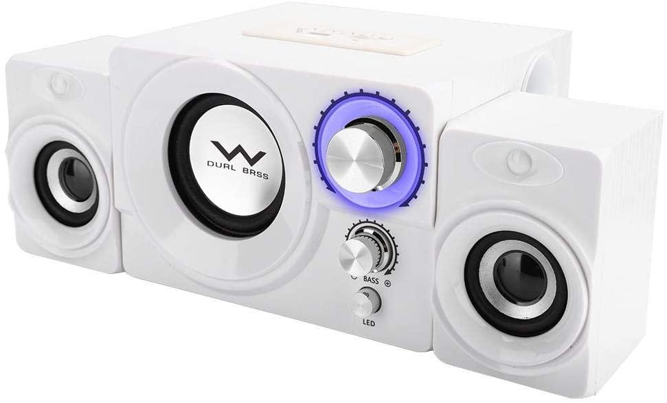 Bewinner1 Wood Bluetooth Computer Speakers,Mini Houshold Soundbox Speaker Desktop Audio Speaker for Mobile Phones/Notebooks/Tablets/APF of Desktop Computers (Bluetooth and Wired Versions)