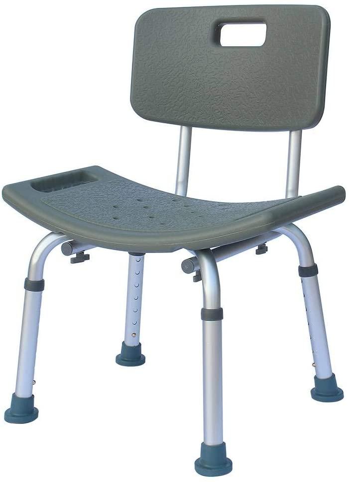 Binlin Shower Chair,U Shape Bath Seat, No-Slip Bathtub Chairs, Medical Shower Chair Bath Seat Stool Transfer Bench with Removable for Spa Bathroom Back Rest