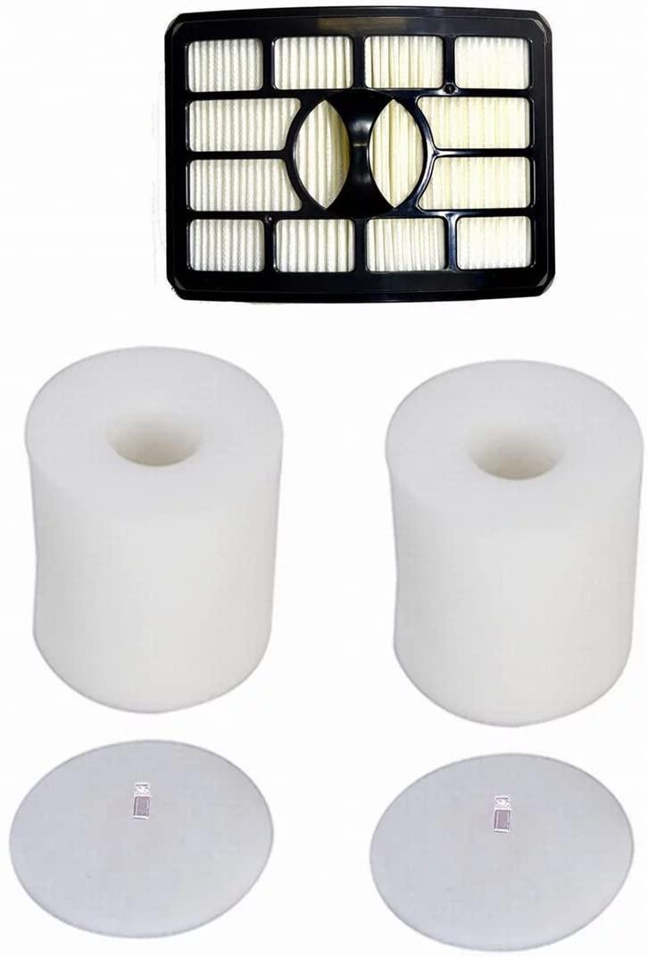 ANBOO 2 Foam & Felt Filters Kit for Shark Rotator Powered Lift-Away NV650, NV650W, NV651, NV652, NV750, NV750W, NV751, NV752, NV753, Part # XFF650 & XHF650