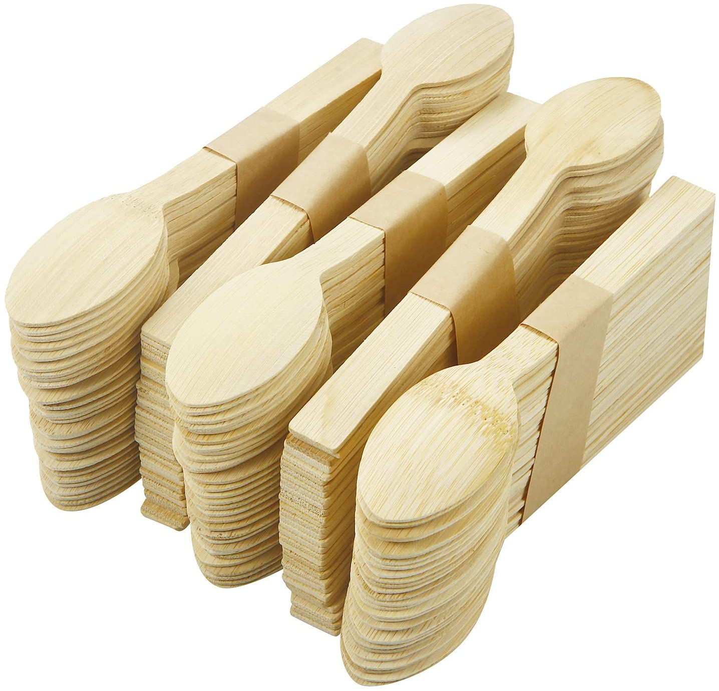 100% Bamboo Disposable Cutlery Set (300 PC Spoon)