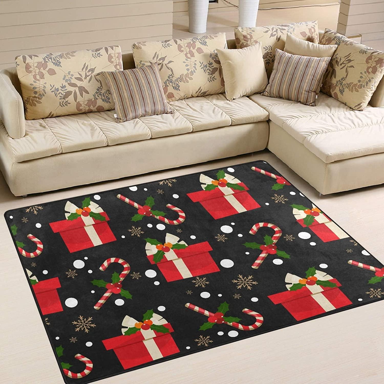 UMIRIKO Area Rug for Bedroom Merry Indoor Area Rug Carpet Garden Floor Mat Non Slip Rugs for Kitchen 63 x 48 in 2021159