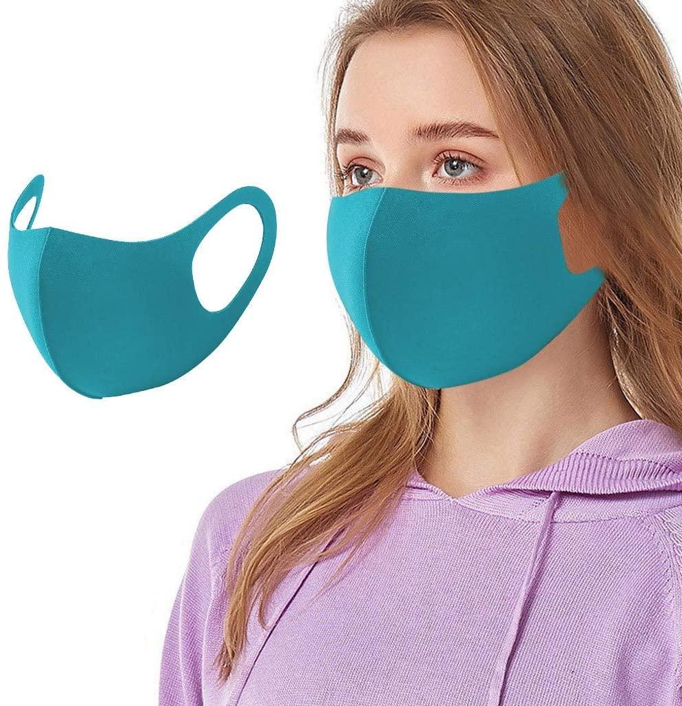 OMGYST 【USA In Stock 】Unisex Washable Reusable Fashion_Face_Teacher_Mask Reusable Colorful Camouflage Fabric Face Turban Stylish Fashionable Neutral Washable Face Fabric