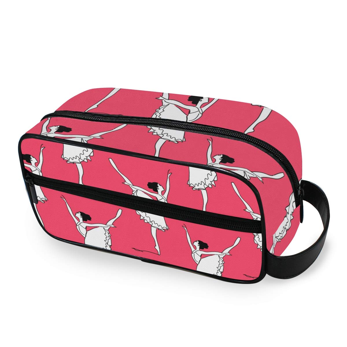 Travel Toiletries Bag Multifunction Portable Toiletry Ballet Dancer Cosmetic Makeup Bag Pouch Case Organizer for Woman Adults