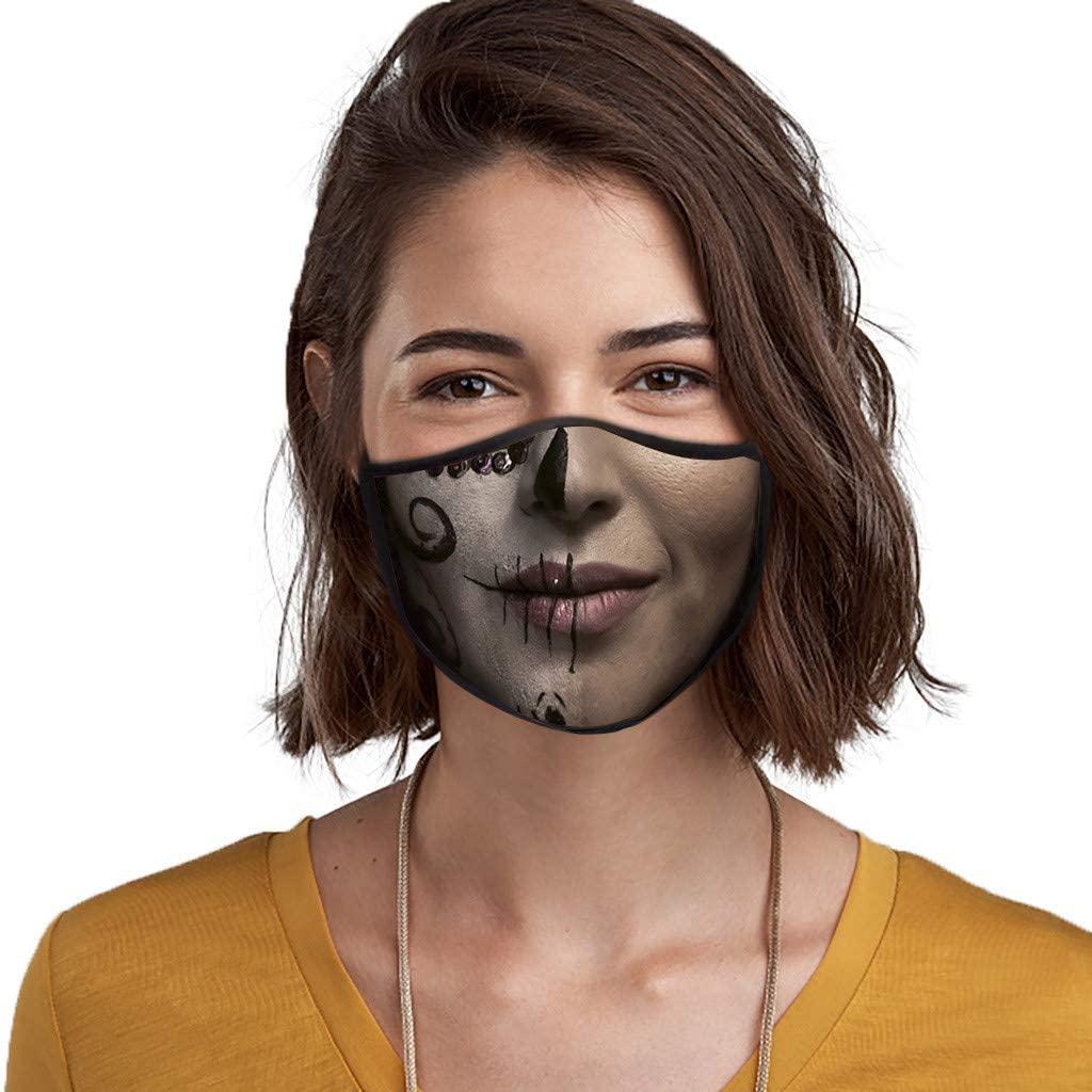 JMETRIE Adult Horror Print Masks Washable and Reusable Cotton Face Mask