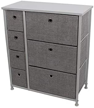 Bonp Drawer Fabric&suede Dresser Storage Tower, Organizer Unit for Bedroom, Closet, Entryway, Hallway, Nursery Room Sturdy Steel Frame Wooden Top, Removable