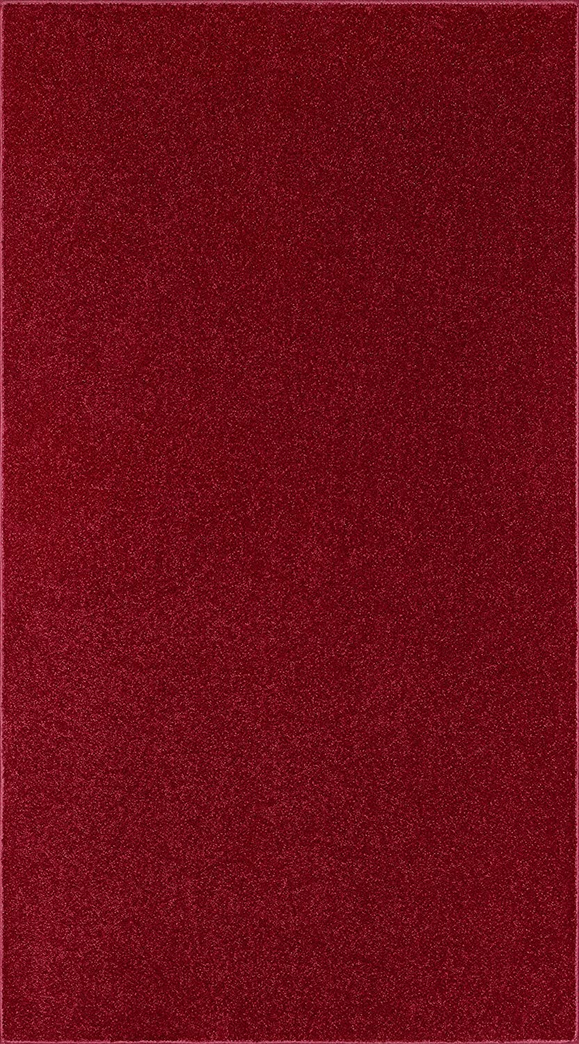 Ambiant Solid Color Oversize Area Rug Burgundy, 9' x 23'