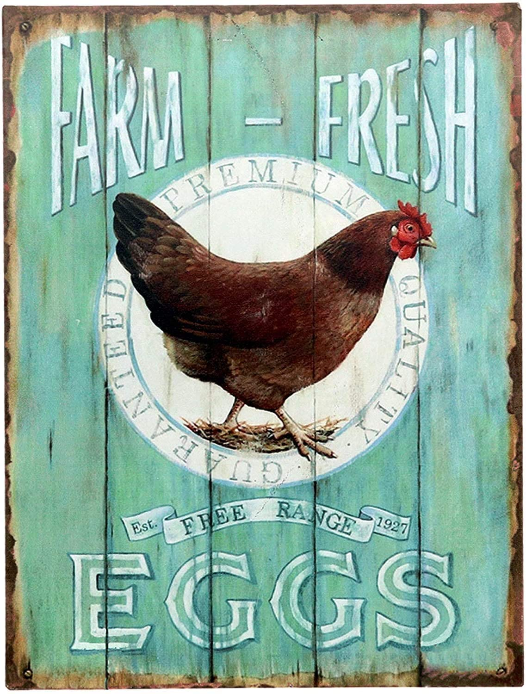 Eidolon Metal Sign Farm Fresh Eggs Retro Vintage Tin Bar Sign Country Home Decor 8