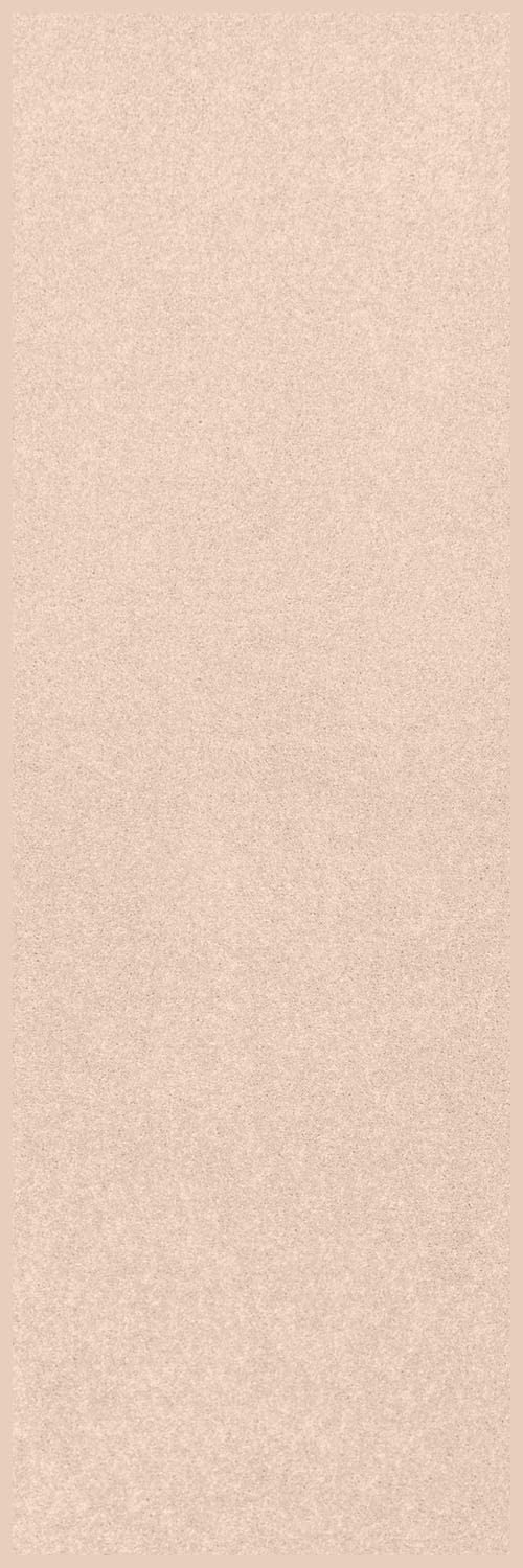 Home Queen Solid Color Custom Size Runner Area Rug Off White, 3' x 8'