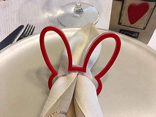 Generic - Easter Bunny Ears Napkin Rings Napkin Ring Holders Easter gift for children Dinner Party Decorations Settings
