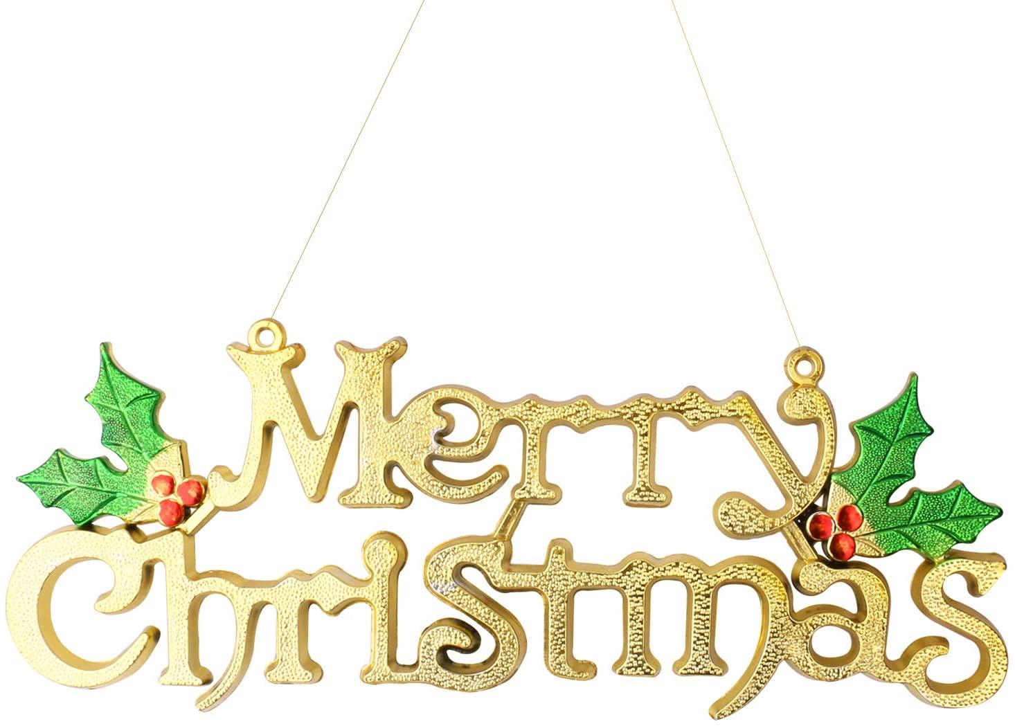 Inxens Christmas Signs Hanging Door Decor for Front Door Christmas Decorations
