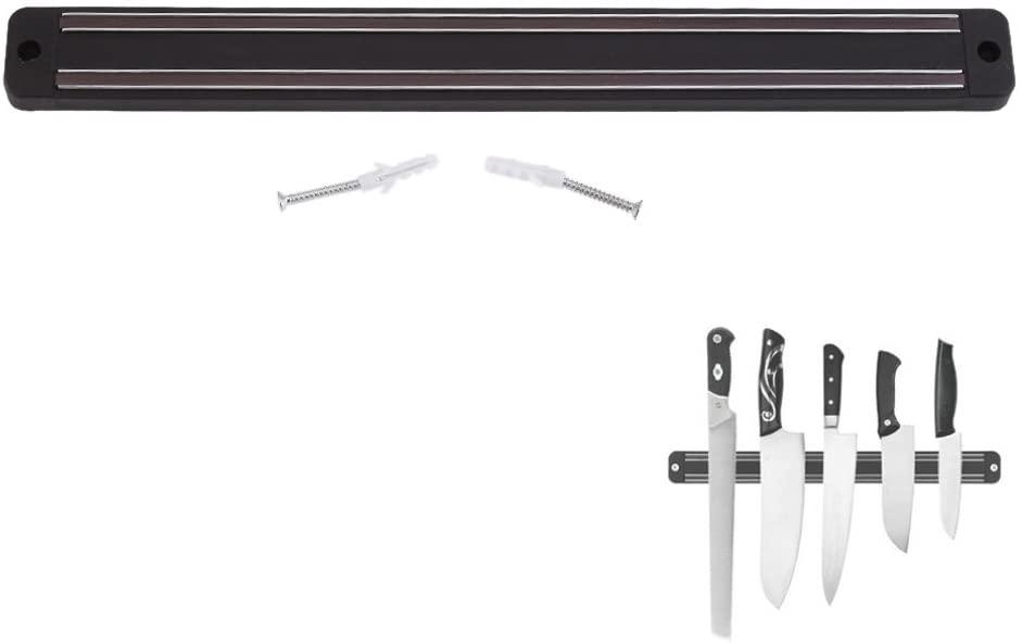 Stainless Steel Magnetic Knife Holder, Wall-Mount Magnetic Knife Storage Strip Knife Rack Kitchen Utensil Holder for Home Tool Organization(15.0x2.0x0.6inch)