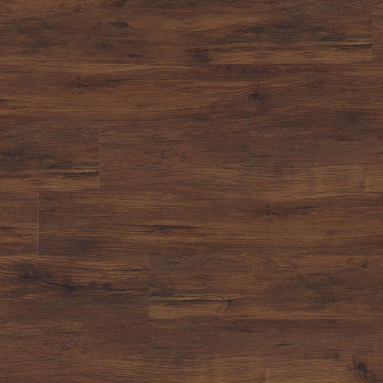 M S International AMZ-LVT-0107P 7 in. x 48 in. Luxury Vinyl Planks LVT Tile Click Floating Floor Waterproof Rigid Core Wood Grain Finish Glendale, Pallet, Chestnut Hill Red, 950 Square Feet
