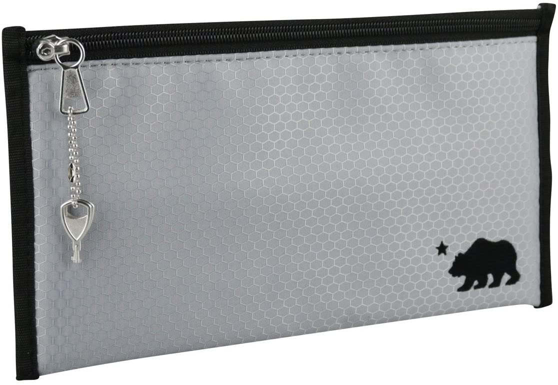 Cali Crusher 100% Smell Proof Pouch w/Locking Key (11in x 6in) (Gray)