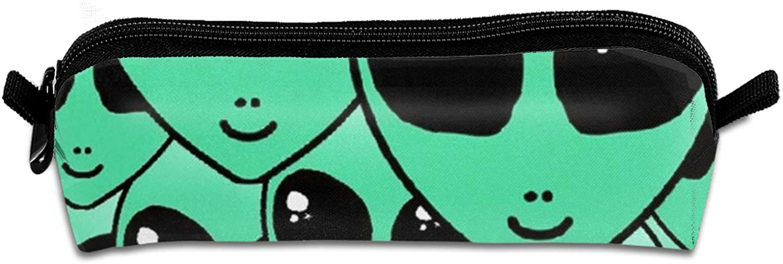 NiYoung Kids Green Aliens Stationery Bag Fashion Pen Holder Pouch Stylish Desk Organizer Bag Multifunctional Big Capacity Pencil Case