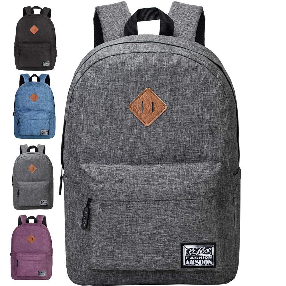 School Backpack, Lightweight Unisex Classic Backpack for Men Women - Grey