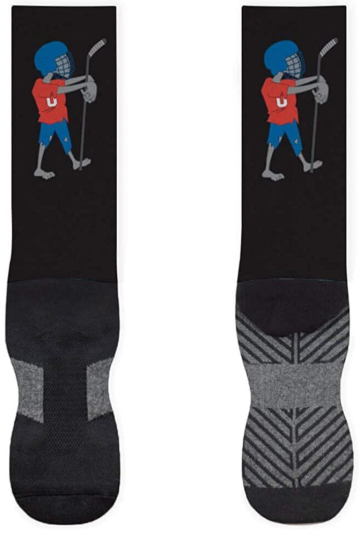 Zombie Hockey Player Printed Mid Calf Socks | Hockey Socks by ChalkTalkSPORTS | Multiple Sizes